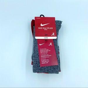 New Nike Alabama Crimson Tide Football Crew Socks
